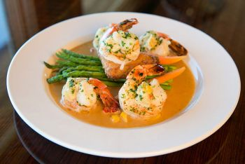The Paper Canoe Outer Banks Restaurant, Crab Stuffed Shrimp